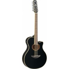 YAMAHA APX700II-12 Black 12-струнная электроакустическая гитара с вырезом