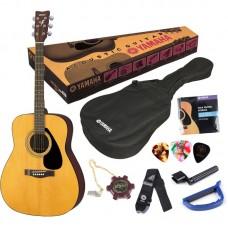 YAMAHA F310P Natural гитарный комплект акустическая гитара Yamaha F310, чехол, набор аксессуаров