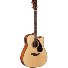 YAMAHA FGX800C Natural электроакустическая гитара